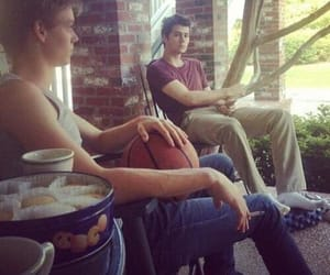 dylan o'brien, thomas sangster, and newt image