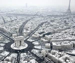 city, snow, and world image