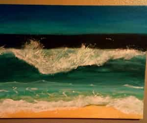 ocean, paint, and sea image