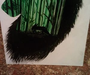 forest, wolf, and painting image
