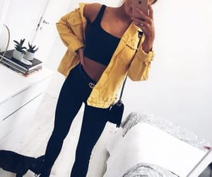 black jeans, fashion, and inspiration image