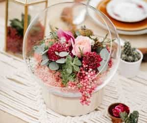 decoration, flowers, and glass image