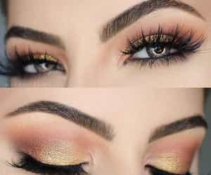 lashes, makeup, and eyebrows image