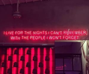 quotes, neon, and red image