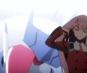 anime, gif, and zero two image