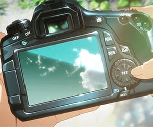 anime, gif, and camera image
