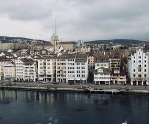 city, switzerland, and traveling image