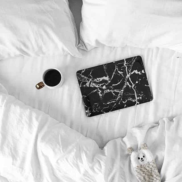 coffee, bed, and white image