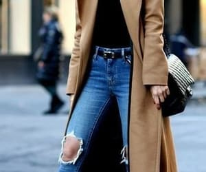 fashion, jeans, and coat image