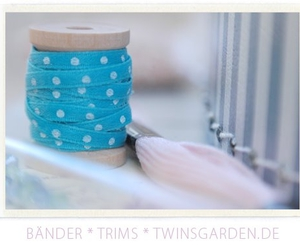 blue, craft, and ribbons image