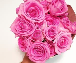 beautiful girl, bouquet, and gift image