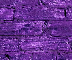 brick, purple, and wall image