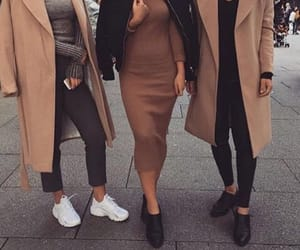 beige, brown, and girls image