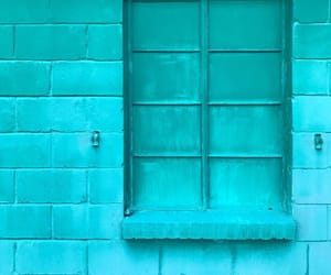 aqua, blue, and wall image