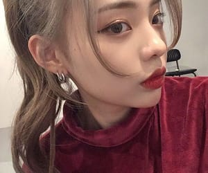 asian, blonde, and earrings image