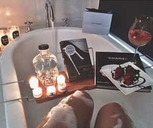 bath, candle, and luxury image