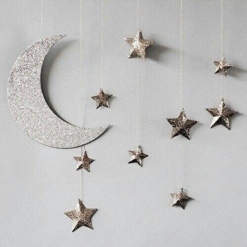 stars, moon, and glitter image