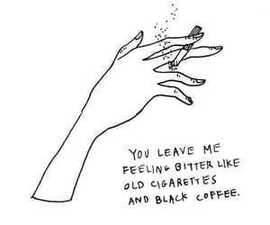 cigarette, quotes, and coffee image