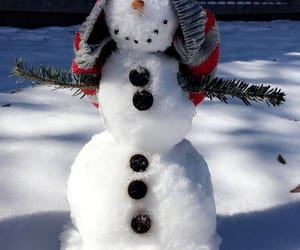 snow, snowman, and white image