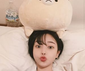 asian, stuffed animal, and ulzzang image