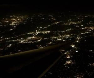 city, Flying, and lights image