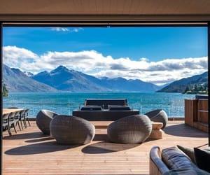 architecture, interior designs, and lake image