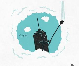 funny, fun, and skyscraper image