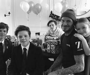 beckham, David Beckham, and family image
