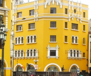 yellow, buildings, and peru image