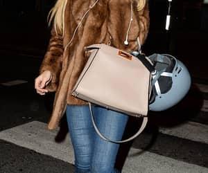 celebrity, fashion, and fur coat image