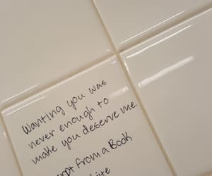 bathroom, words, and quote image