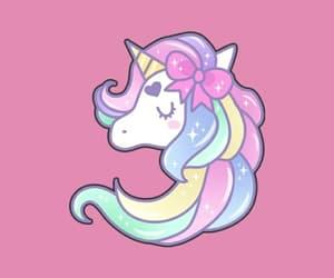 background, unicorn, and pastel image