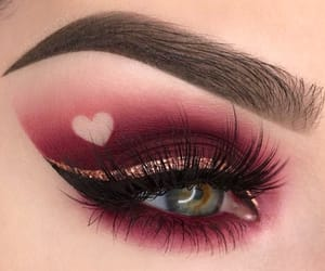 makeup, eyes, and heart image