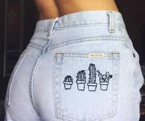 ass, blue, and cactus image