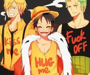 anime, one piece, and monster trio image