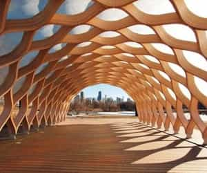 architecture, chicago, and wood image