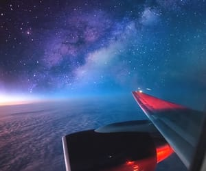 stars, sky, and plane image