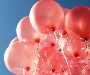 balloons, pink, and background image