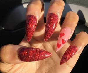 aesthetic, red, and nails image