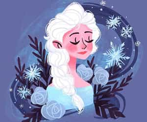disney, illustration, and elsa frozen image