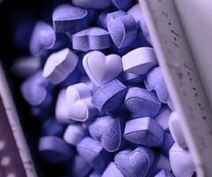 purple, candy, and heart image