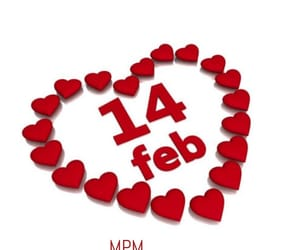 february, heart, and Valentine's Day image