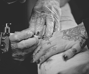 b&w, fingers, and hands image