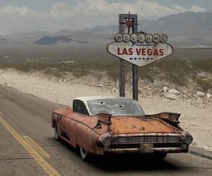 Las Vegas, car, and vintage image
