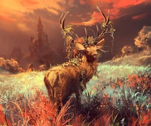 antler, antlers, and fantasy image