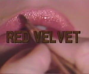 aesthetic, red velvet, and lips image