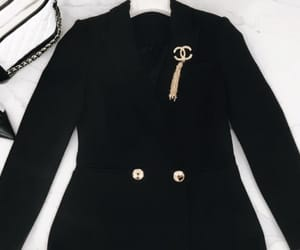 black, jacket, and chanel image