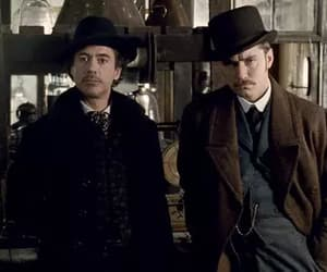 jude law, sherlock holmes, and movie image