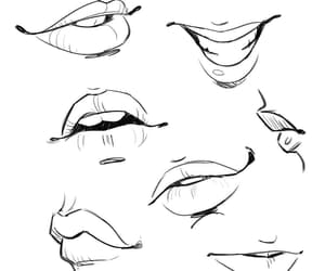 drawing, mouth, and lips image