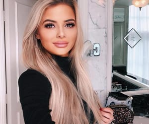 blond, girls, and hair image